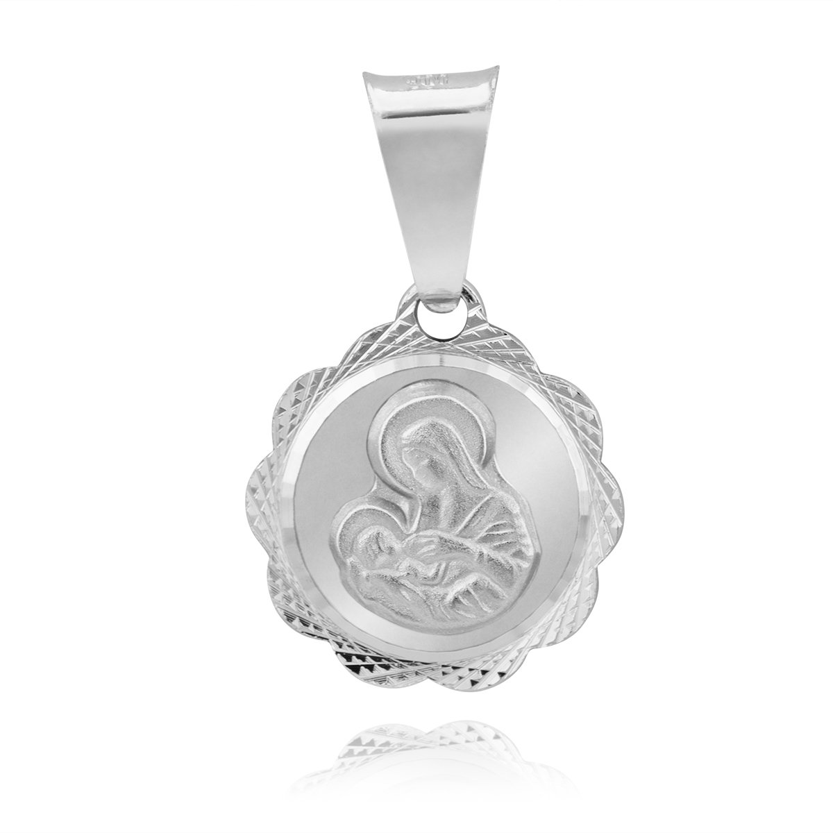 059f51dd557ae3 Srebrny medalik Matka Boska karmiąca; Srebrny medalik Matka Boska karmiąca  ...